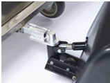 The electric tugger is connected via the hitch.
