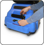 Cord-on-Board Solid State Battery Charger with Auto Test and Shut-Off
