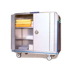 motorized security linen carts