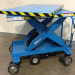 1052 Custom Motorized Scissor Lift Cart with rotating top