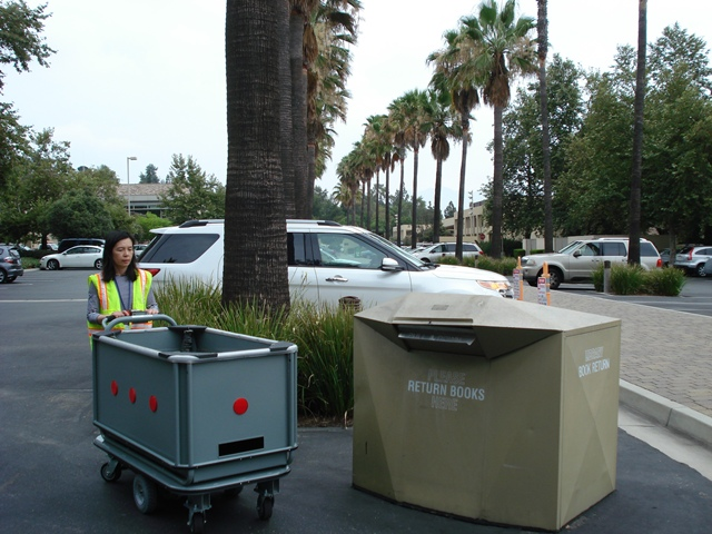 Motorized Library Cart