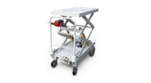 1050-EL motorized scissor lift carts