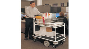 mail room carts - motorized carts