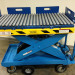 Custom motorized scissor lift cart with ball transfer top