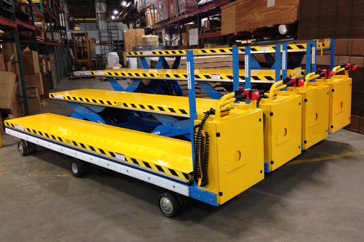 1052 custom motorized scissor lift cart