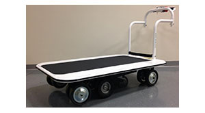 3000-4000 lb capacity motorized flatbed carts