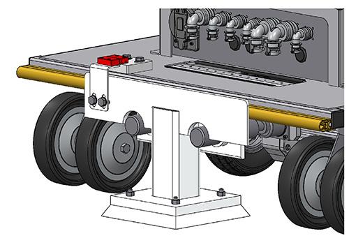 front bumper system for custom platform cart