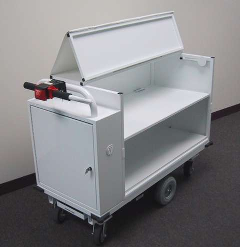 Office Commercial Light Assembly Motorized Utility Carts