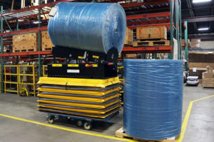 lift safer with a custom motorized scissor lift cart