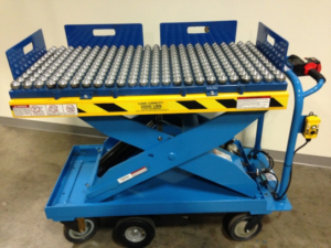 lift safer with a ball transfer cart
