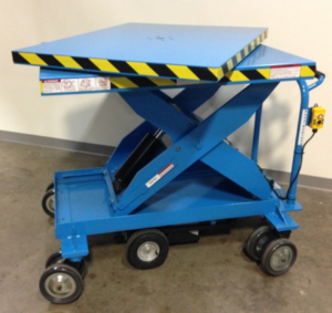 lift safer with a rotating platform top cart