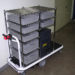 Vending Machine Service Cart with Safe