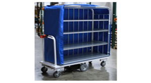 motorized linen and laundry carts