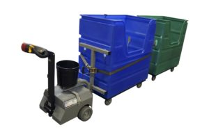 Electric Tugger Pulling Laundry Carts