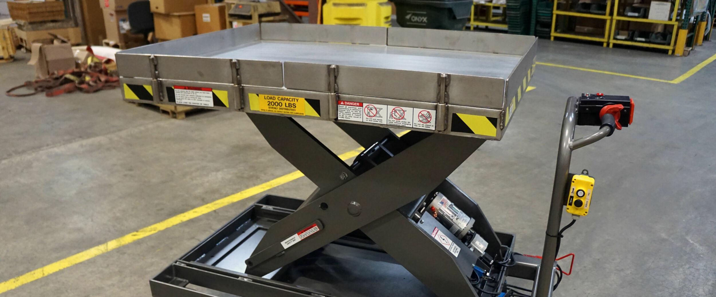 Custom Motorized Scissor Lift For Medical Device Manufacturer