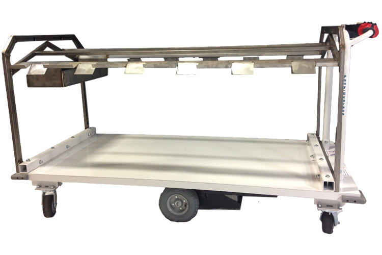 Cart with Stainless Steel Rack For Printing Industry