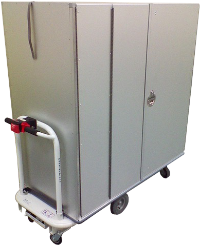 Motorized Security Linen Cart
