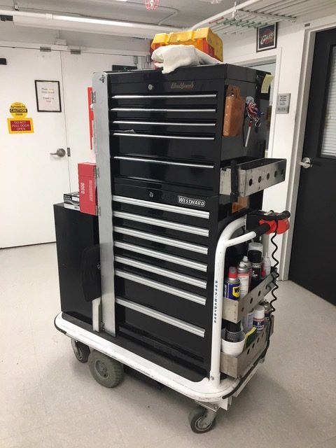 1031 Platform Cart with Tool Box