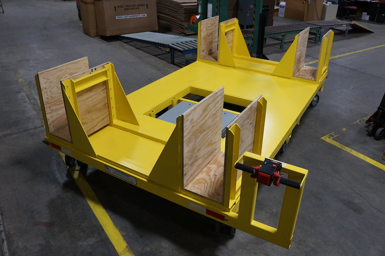 Custom Cart for Moving Large Weldments
