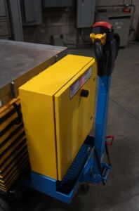 BART cart handle upright