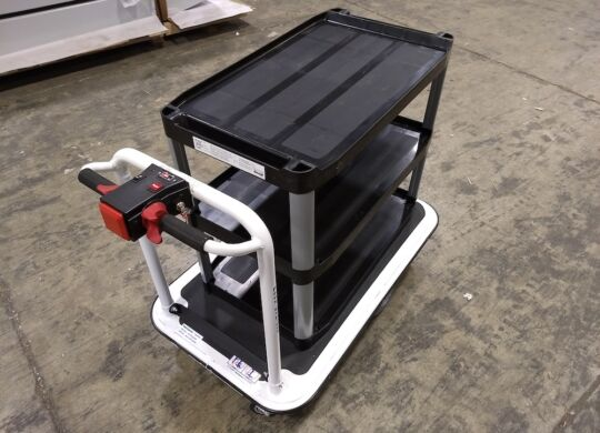 Custom Motorized Platform Cart with Rubbermaid Shelving