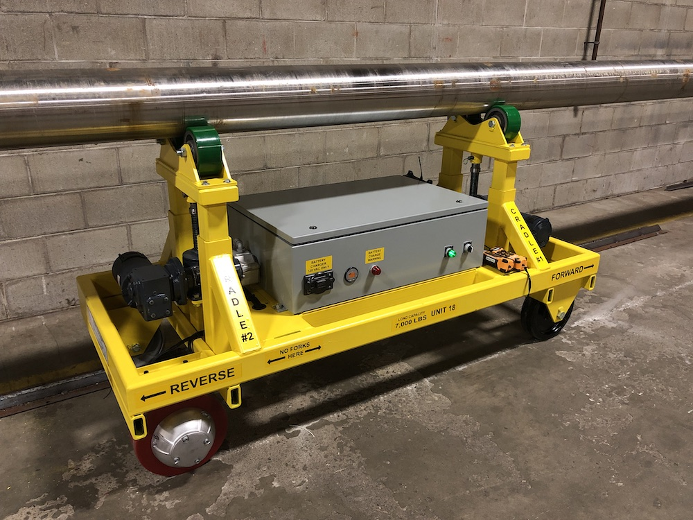Custom Jackscrew Lift Transfer Cart