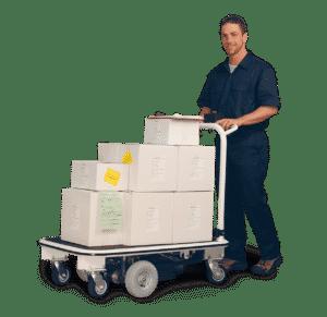 ergonomic motorized platform carts
